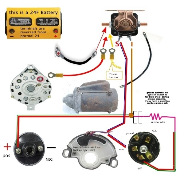 Attractive 66 Mustang Alternator Wiring Diagram Image - Electrical ...